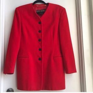 ESCADA by Margaretha Ley wool/cashmere red jacket